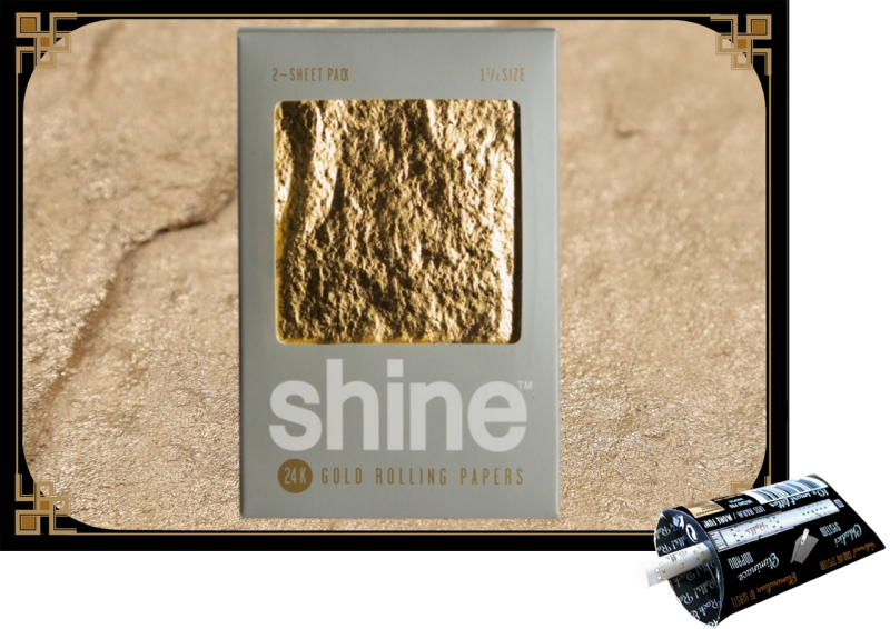 Shine 24k 2-sheet pack 1ks a 2ks papírků