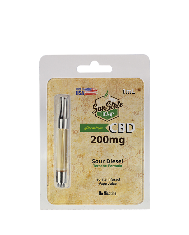 SunState Hemp předplněná kazeta - Sour Diesel 1ml 200MG