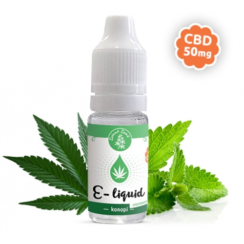 E-liquid s CBD, příchuť Konopí - Spearmint, 10ml 50mg