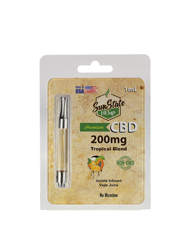 SunState Hemp předplněná kazeta - TROPICAL BLEND 1ml 200MG