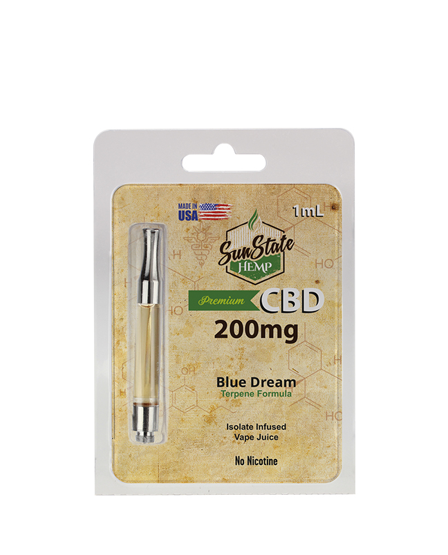 SunState Hemp předplněná kazeta - Blue Dream 1ml 200MG