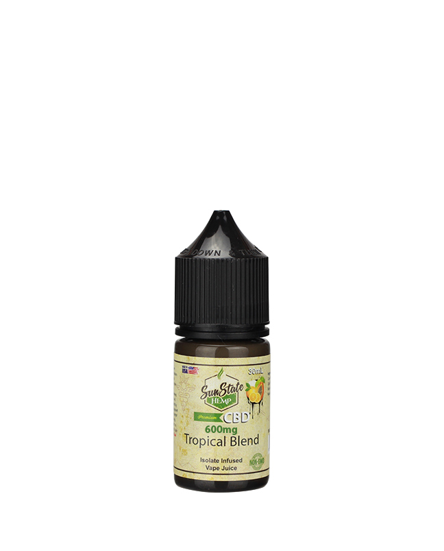 Sunstate Hemp Vape Juice Tropical 30ml 600mg CBD