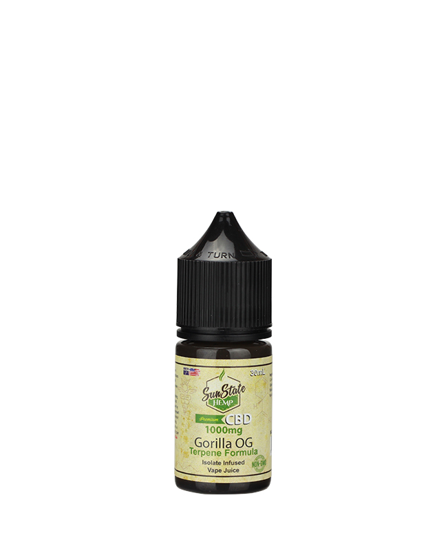 Sunstate Hemp Vape Juice Gorilla OG 30ml 1000mg CBD